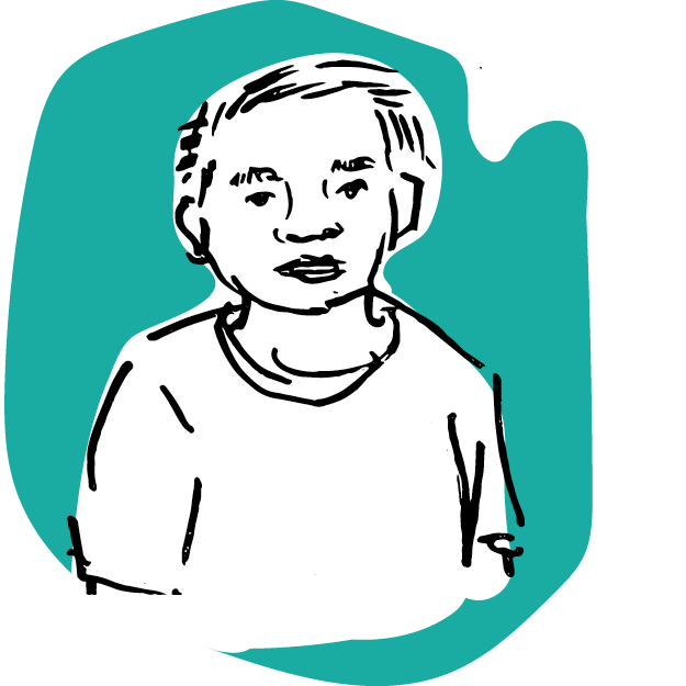 Illustration of young man wearing t-shirt